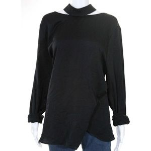NEW Trouve Open Back Black Blouse size 2XL